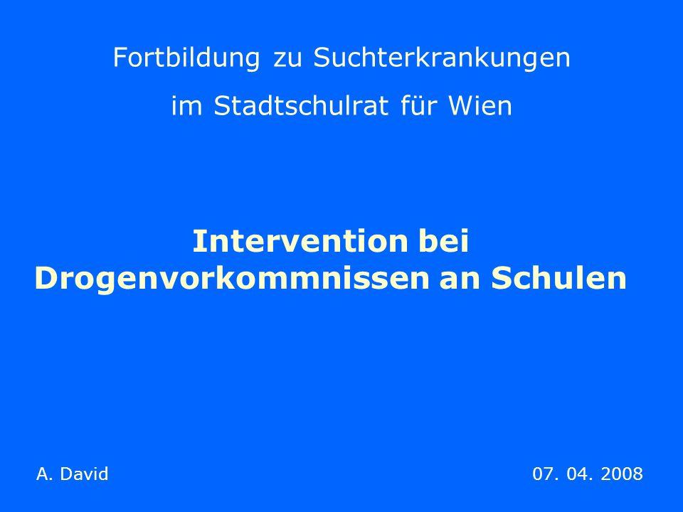 Fortbildung zu Suchterkrankungen im Stadtschulrat für Wien