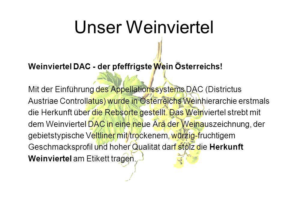 Unser Weinviertel Weinviertel DAC - der pfeffrigste Wein Österreichs!