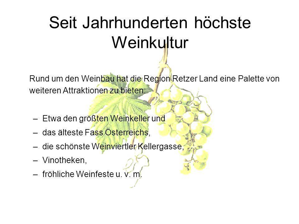 Seit Jahrhunderten höchste Weinkultur