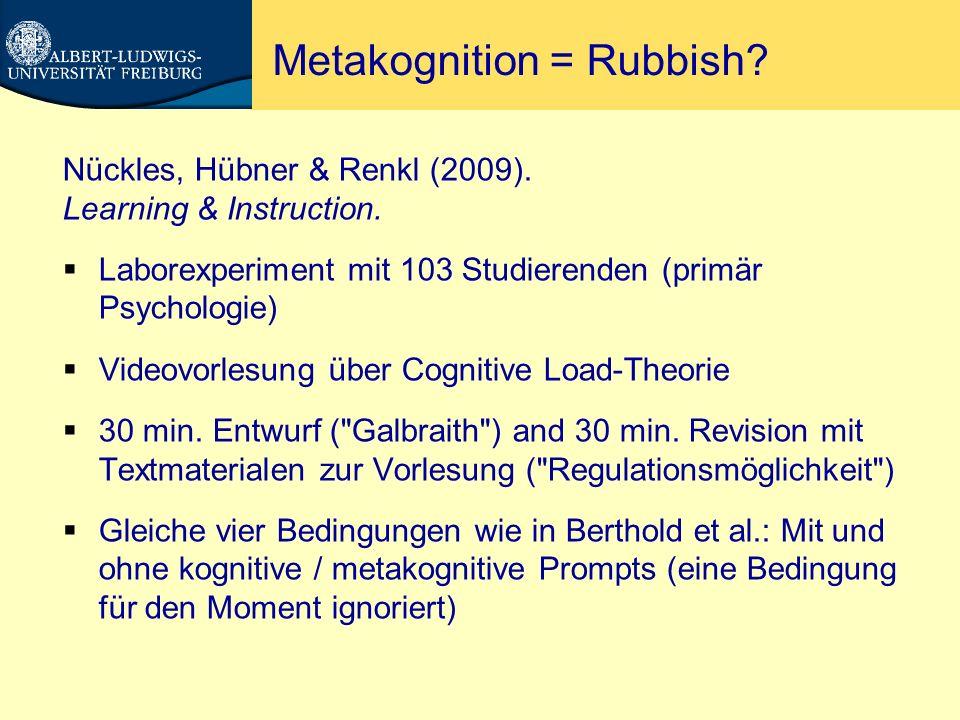 Metakognition = Rubbish