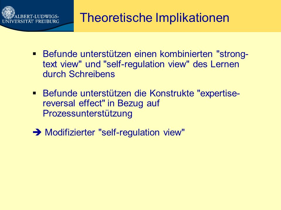 Theoretische Implikationen