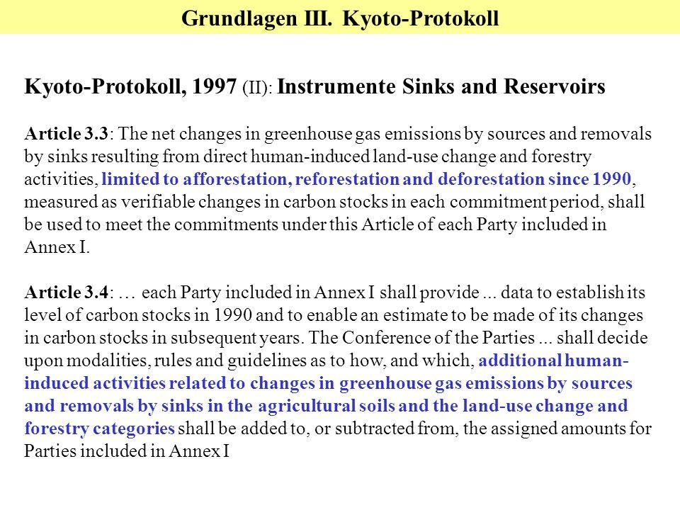 Grundlagen III. Kyoto-Protokoll