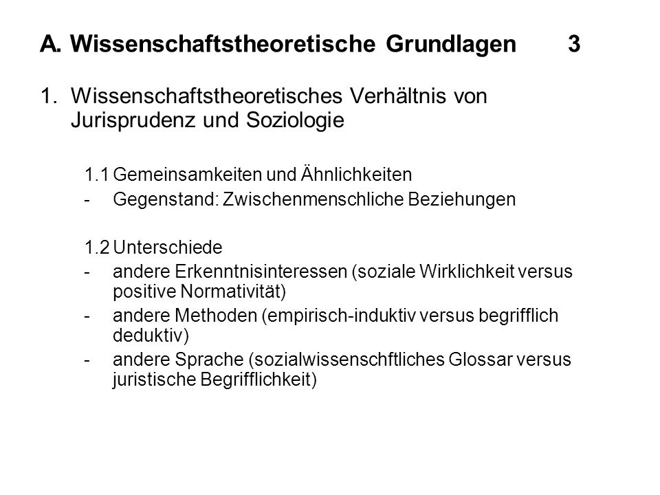A. Wissenschaftstheoretische Grundlagen 3