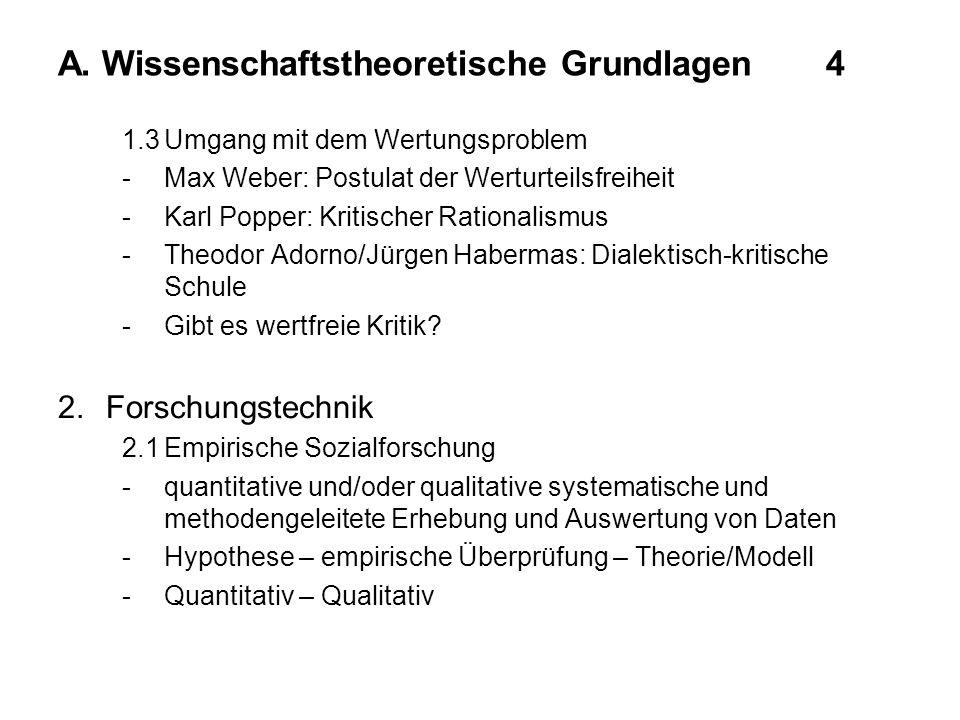 A. Wissenschaftstheoretische Grundlagen 4