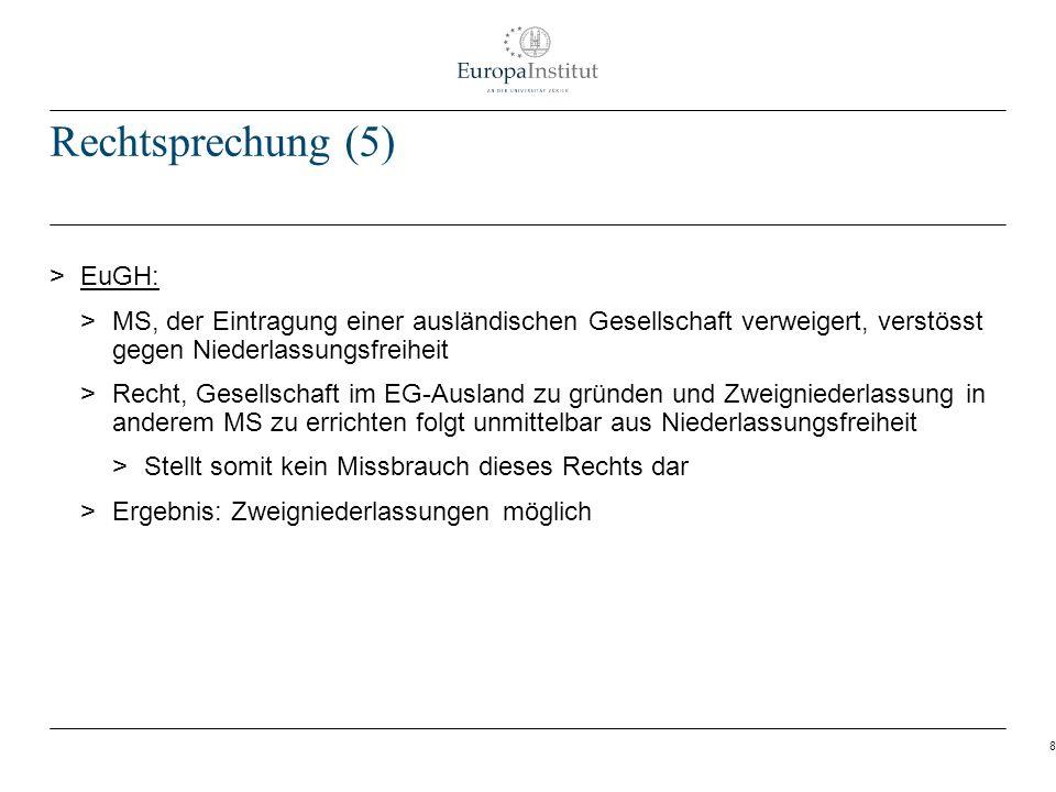 Rechtsprechung (5) EuGH: