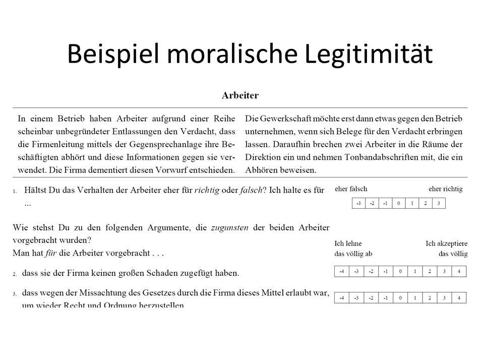 Beispiel moralische Legitimität