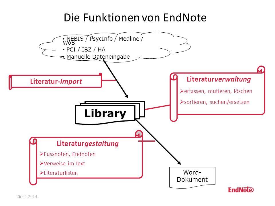 Die Funktionen von EndNote