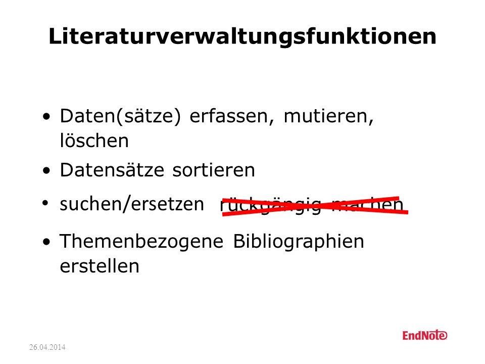 Literaturverwaltungsfunktionen