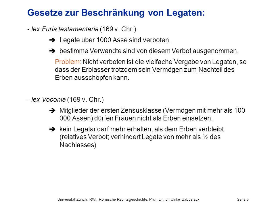 Gesetze zur Beschränkung von Legaten: