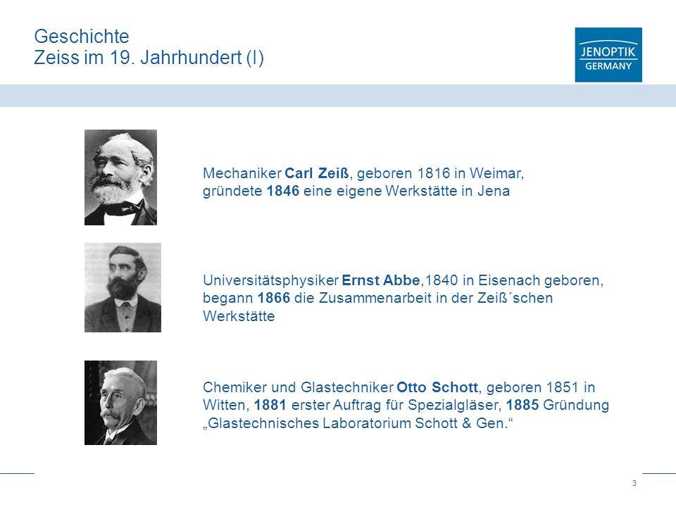 Geschichte Zeiss im 19. Jahrhundert (I)