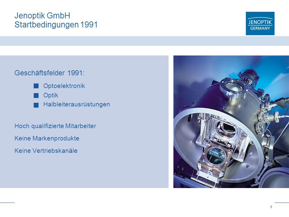 Jenoptik GmbH Startbedingungen 1991
