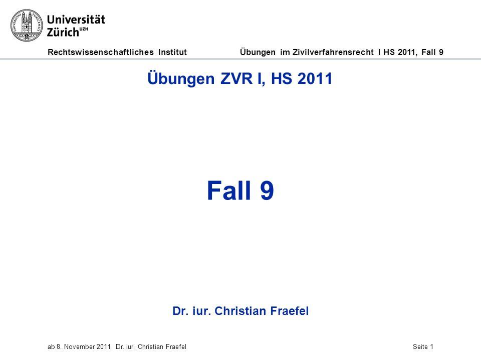 Dr. iur. Christian Fraefel