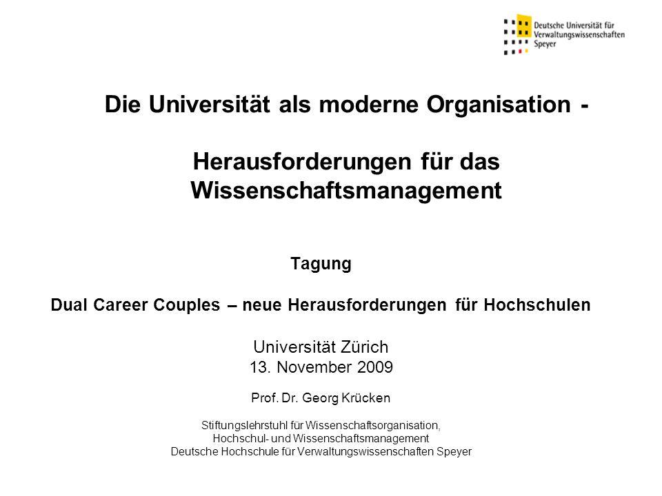 Dual Career Couples – neue Herausforderungen für Hochschulen