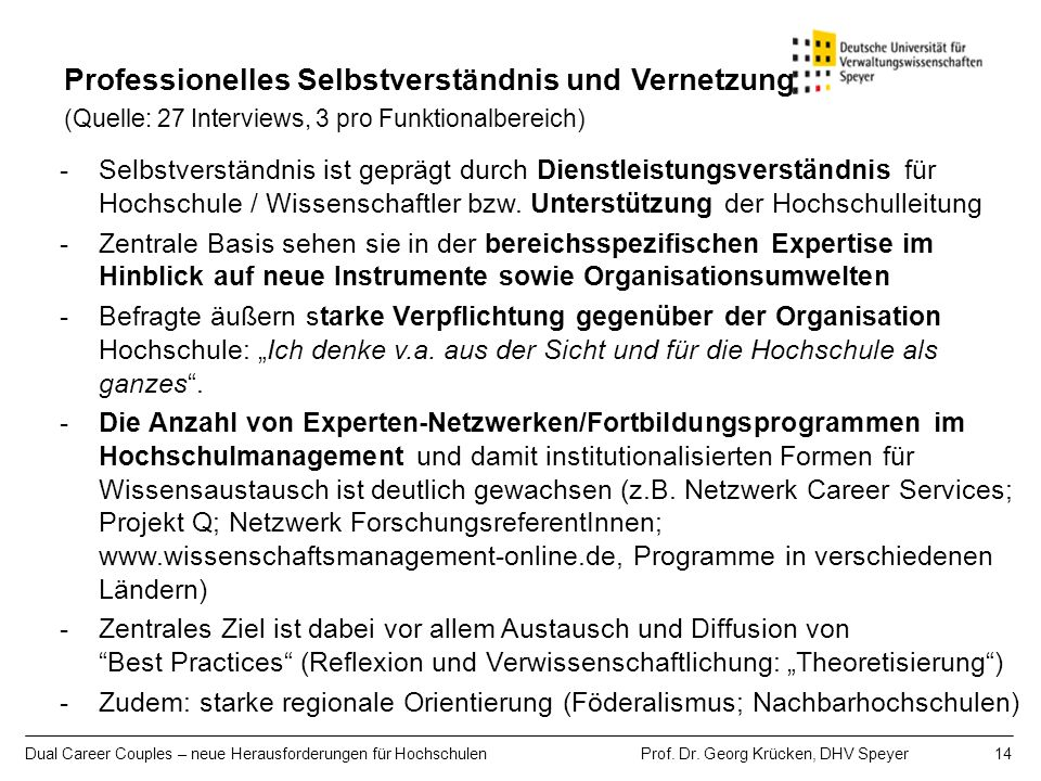 Professionelles Selbstverständnis und Vernetzung (Quelle: 27 Interviews, 3 pro Funktionalbereich)
