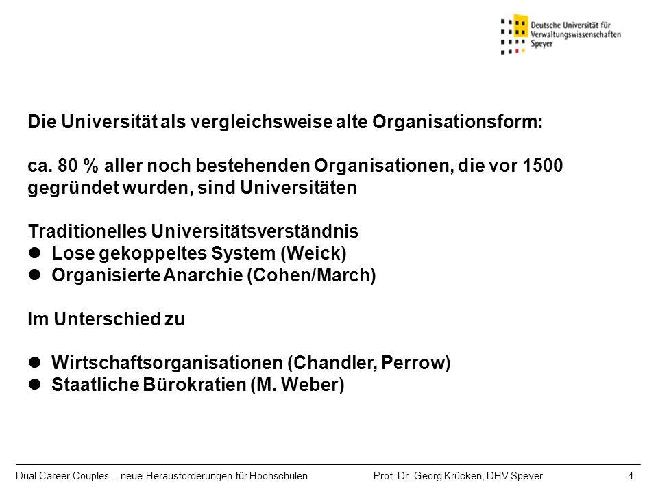 Die Universität als vergleichsweise alte Organisationsform: