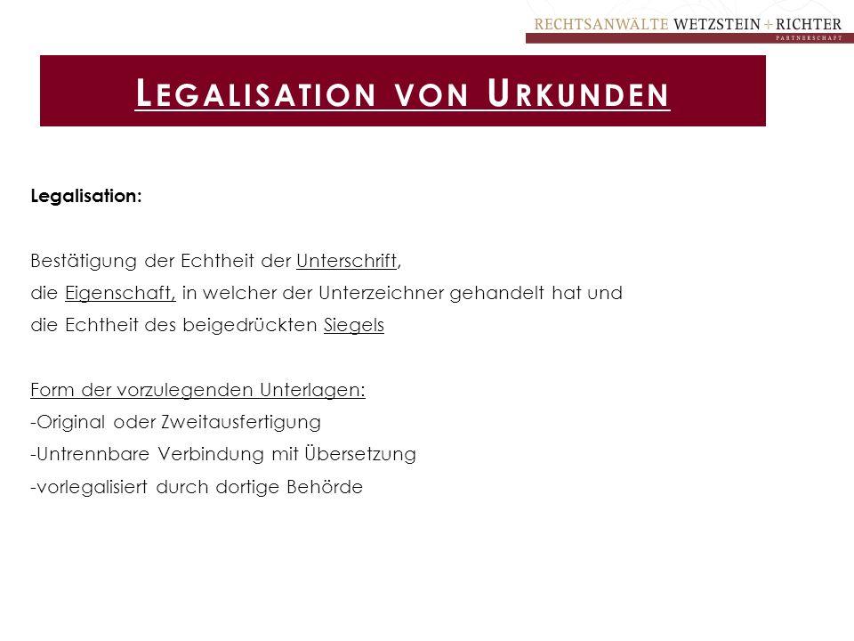 Legalisation von Urkunden