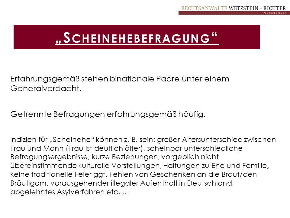 """""""Scheinehebefragung"""