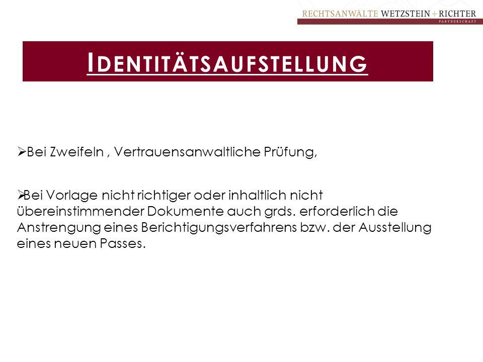 Identitätsaufstellung