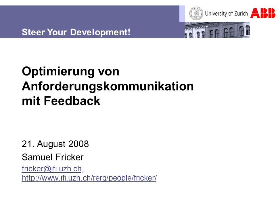 Optimierung von Anforderungskommunikation mit Feedback