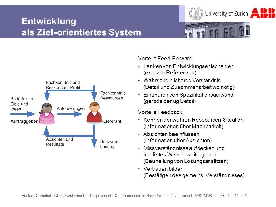 Entwicklung als Ziel-orientiertes System