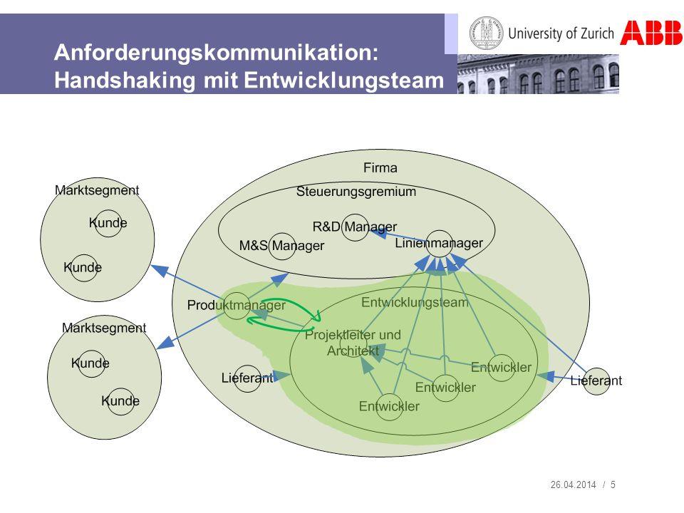 Anforderungskommunikation: Handshaking mit Entwicklungsteam