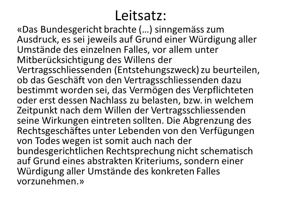 Leitsatz: