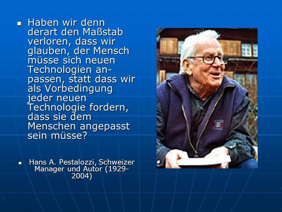 Hans A. Pestalozzi, Schweizer Manager und Autor (1929-2004)