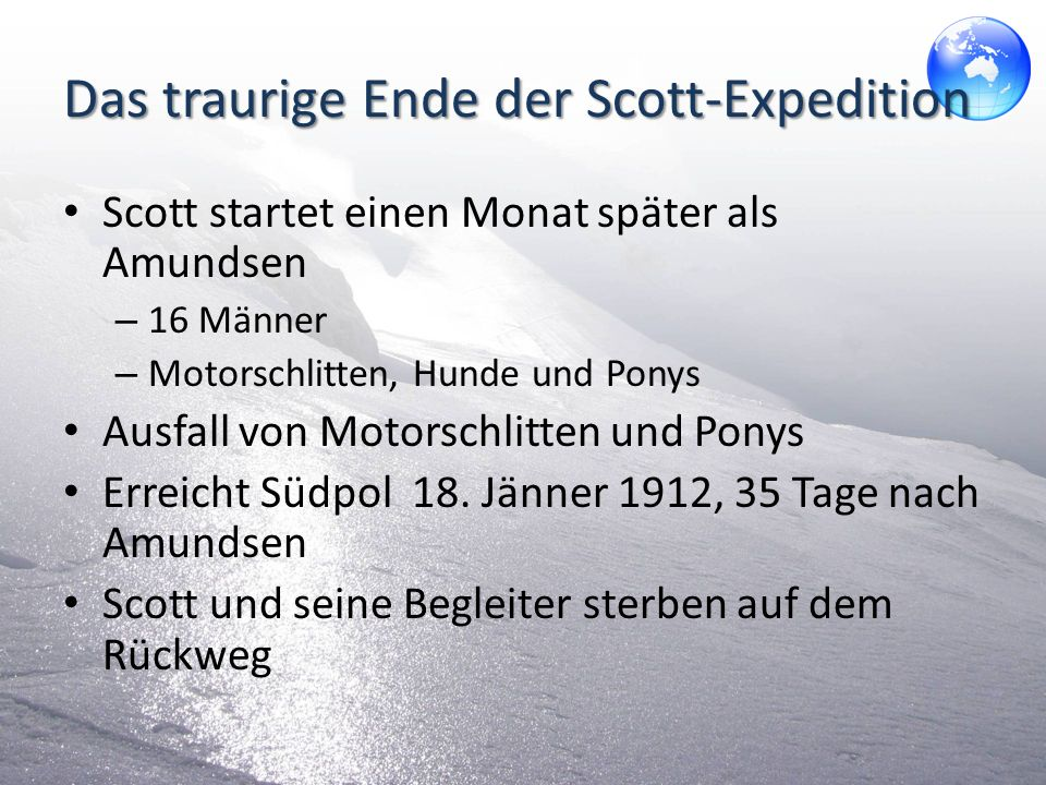 Das traurige Ende der Scott-Expedition