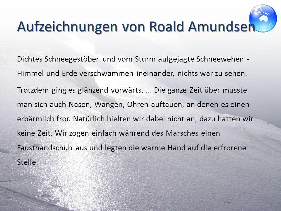 Aufzeichnungen von Roald Amundsen