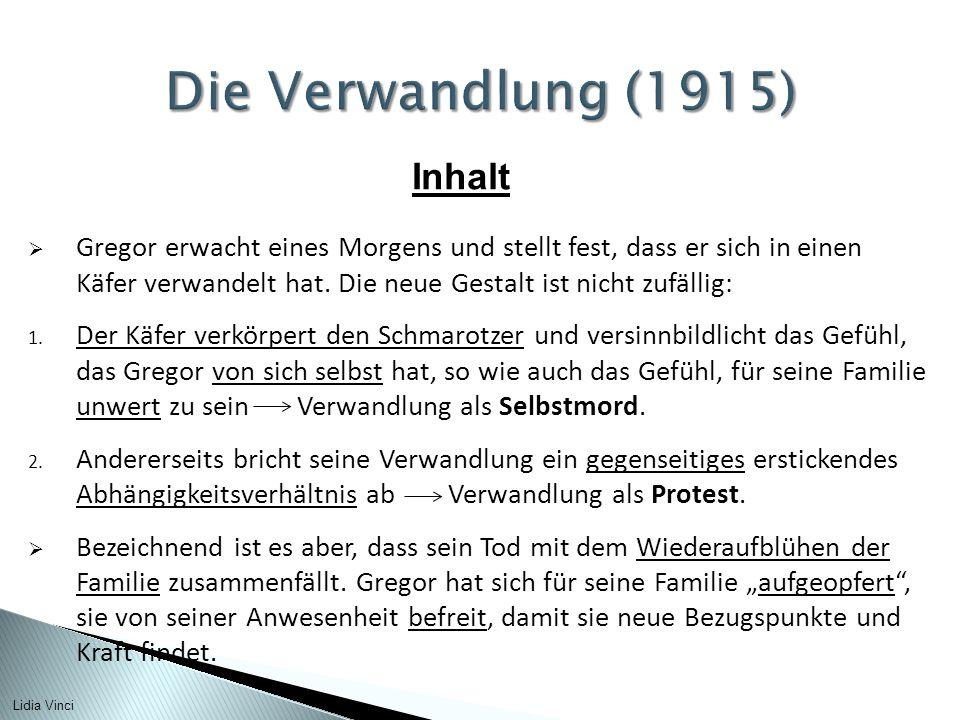Die Verwandlung (1915) Inhalt