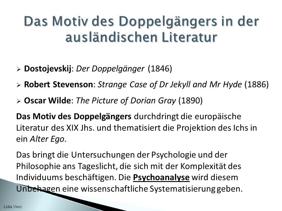 Das Motiv des Doppelgängers in der ausländischen Literatur