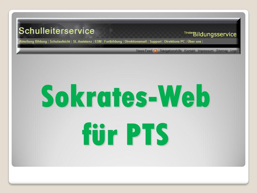 Sokrates-Web für PTS