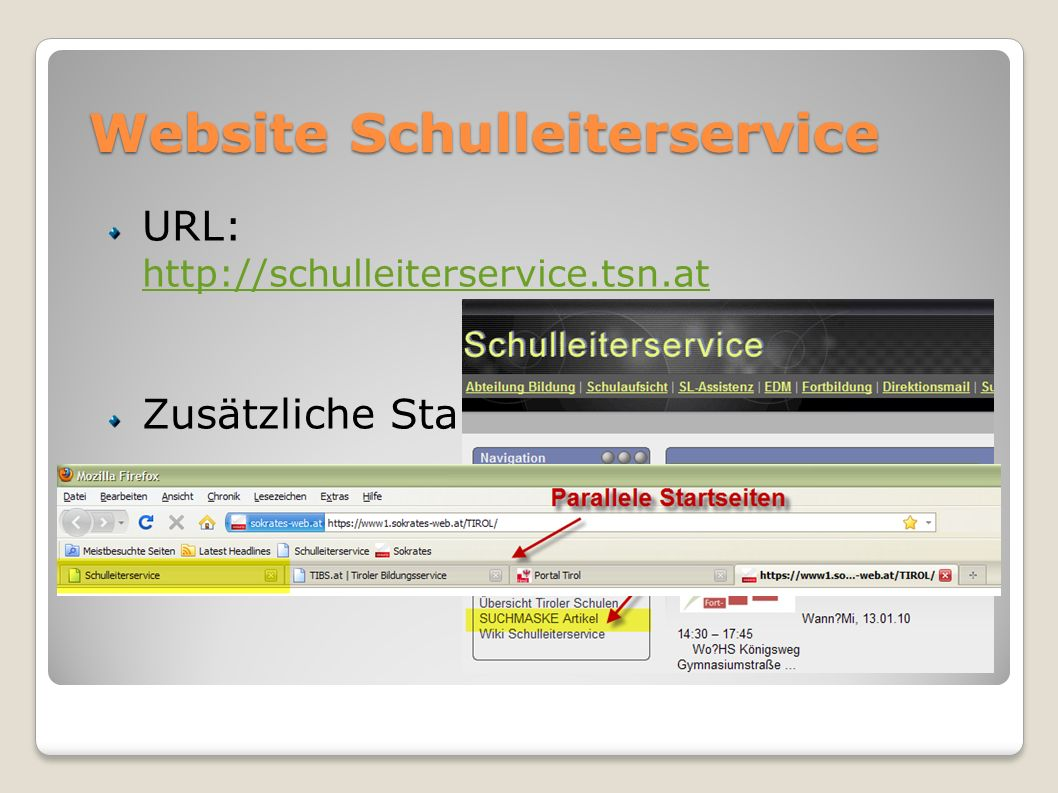 Website Schulleiterservice