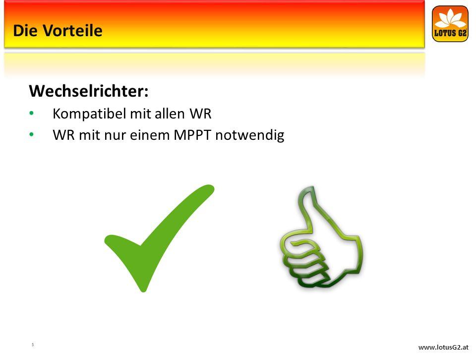 Die Vorteile Wechselrichter: Kompatibel mit allen WR
