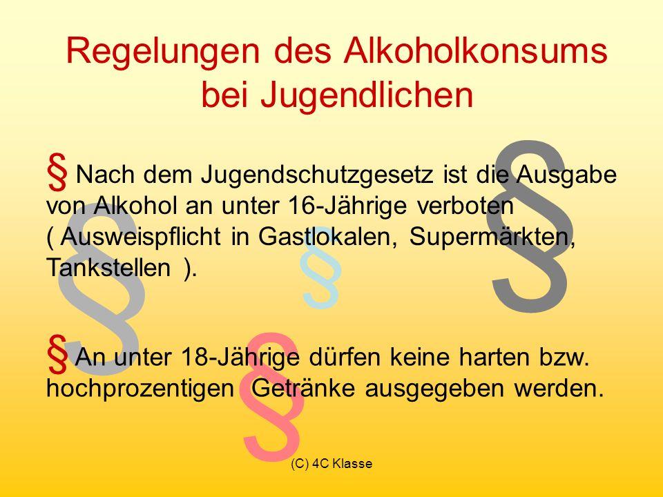 Regelungen des Alkoholkonsums bei Jugendlichen