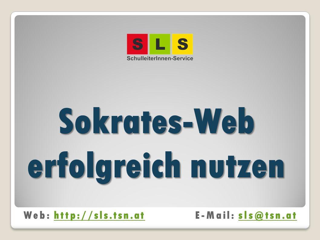Sokrates-Web erfolgreich nutzen
