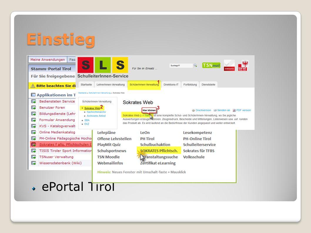 Einstieg URL: www.sokrates-web.at/tirol TiBS: SchulleiterInnen-Service
