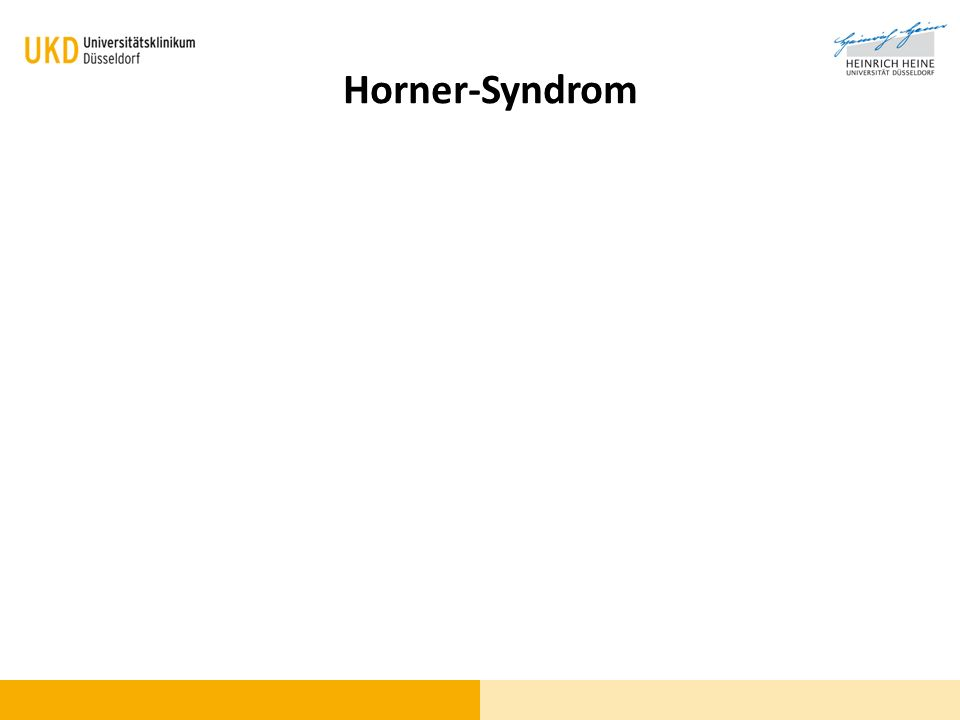 Blickdiagnose Horner-Syndrom
