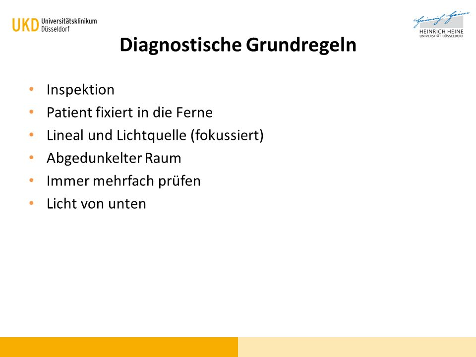 Diagnostische Grundregeln