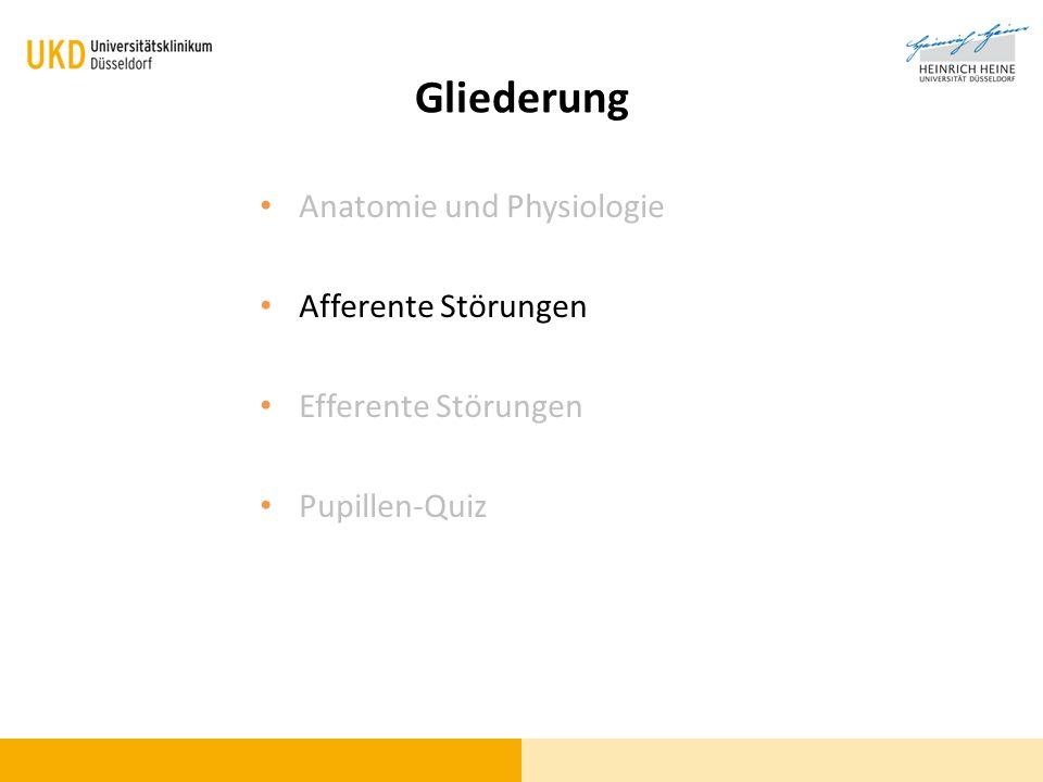 Gliederung Anatomie und Physiologie Afferente Störungen