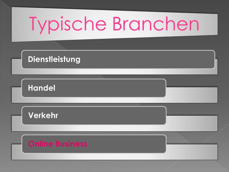 Typische Branchen Dienstleistung Handel Verkehr Online Business