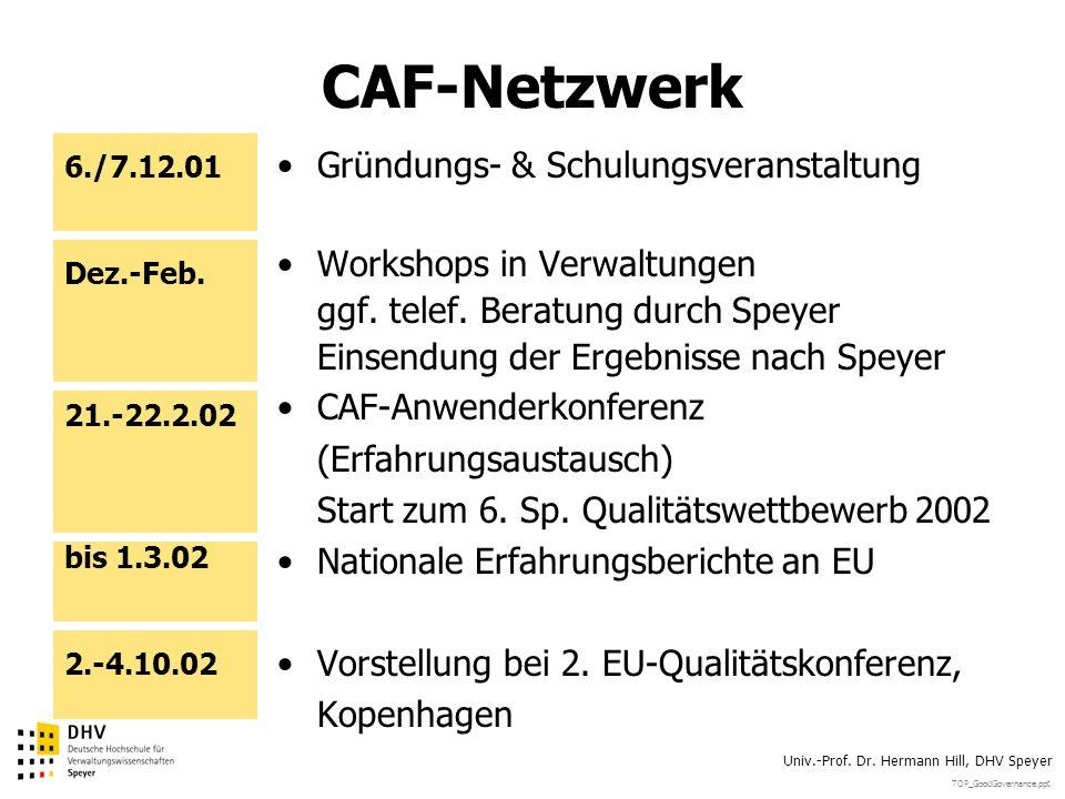 CAF-Netzwerk Gründungs- & Schulungsveranstaltung