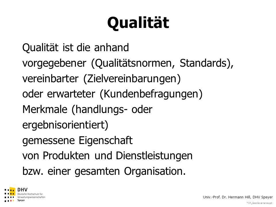 Qualität Qualität ist die anhand
