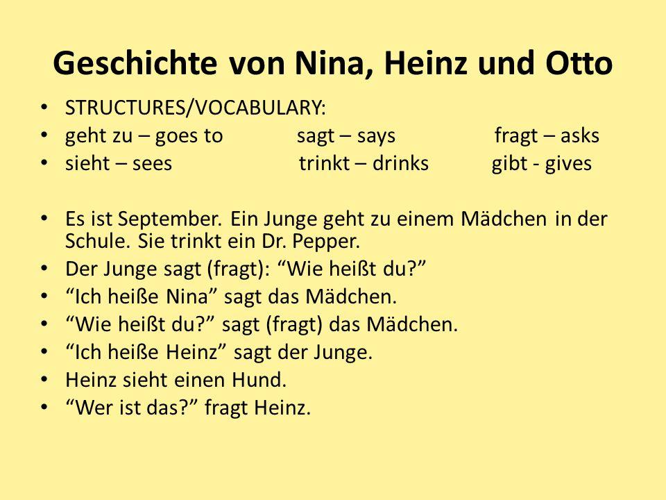 Geschichte von Nina, Heinz und Otto