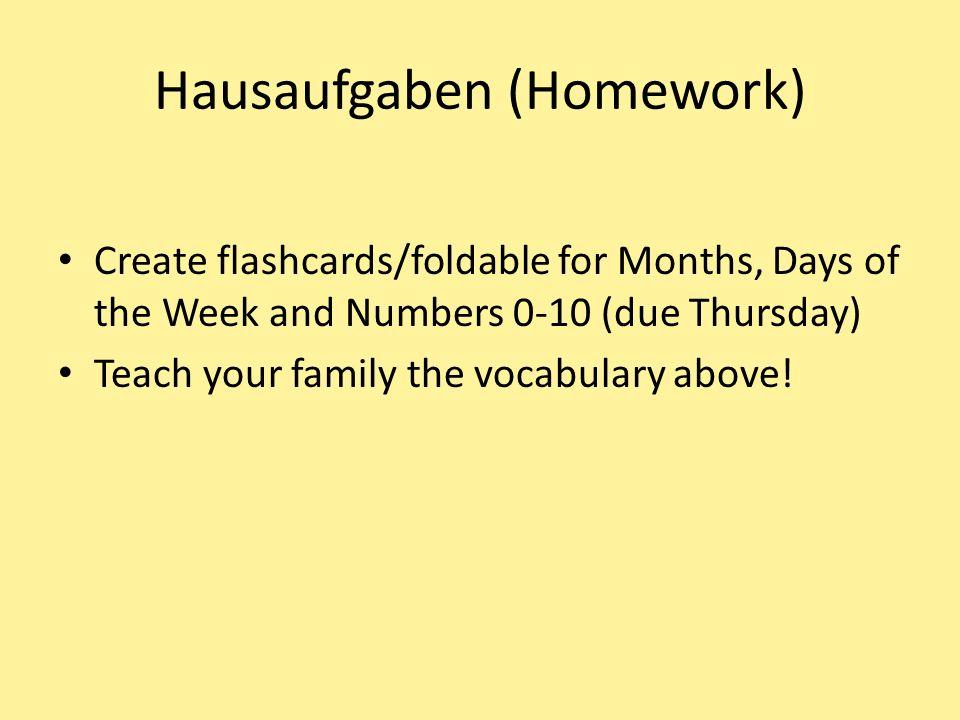 Hausaufgaben (Homework)