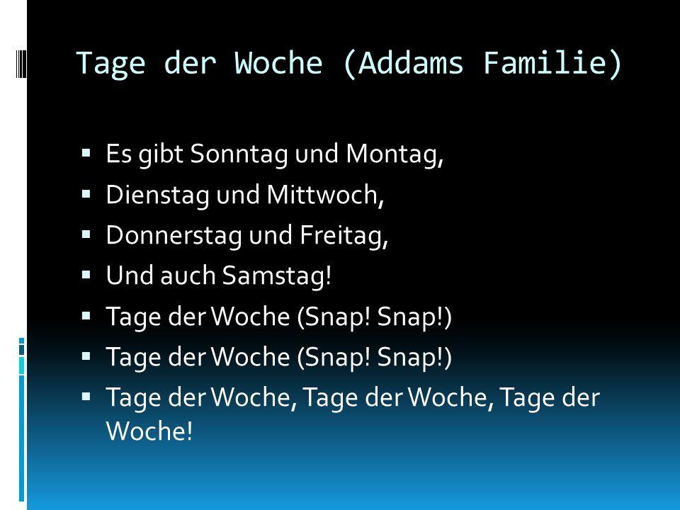 Tage der Woche (Addams Familie)