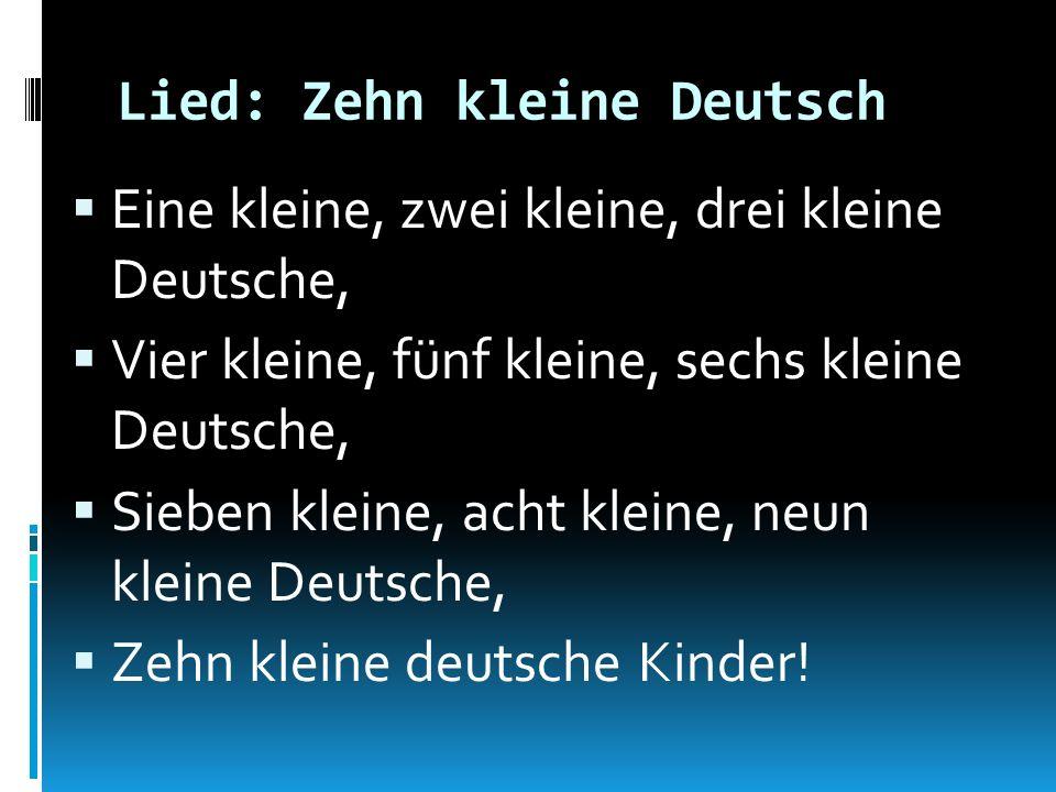 Lied: Zehn kleine Deutsch