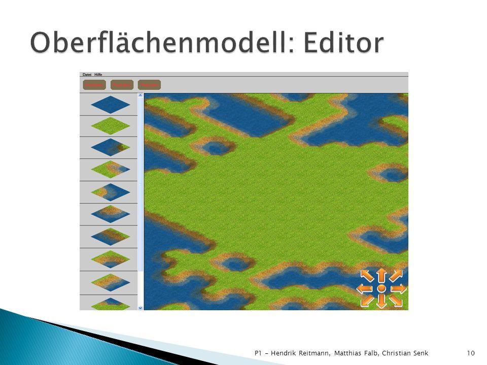 Oberflächenmodell: Editor