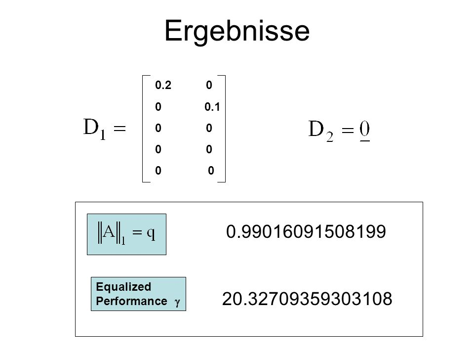 Ergebnisse 0.2 0. 0 0.1. 0 0. 0 0. 0 0. 0.99016091508199. Equalized Performance 