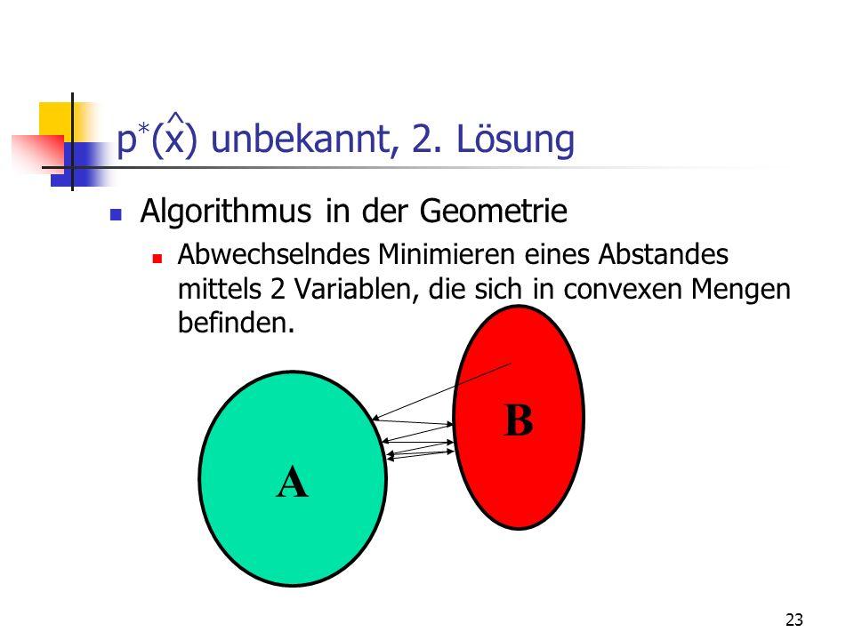 p*(x) unbekannt, 2. Lösung
